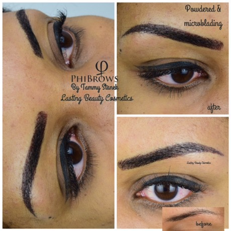 Permanent eyebrows, microblading by lasting Beauty Cosmetics