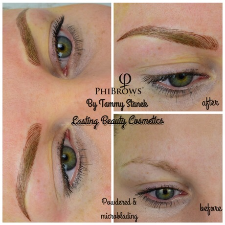 Microblading Eyebrows with Powdering by Lasting Beauty Cosmetics